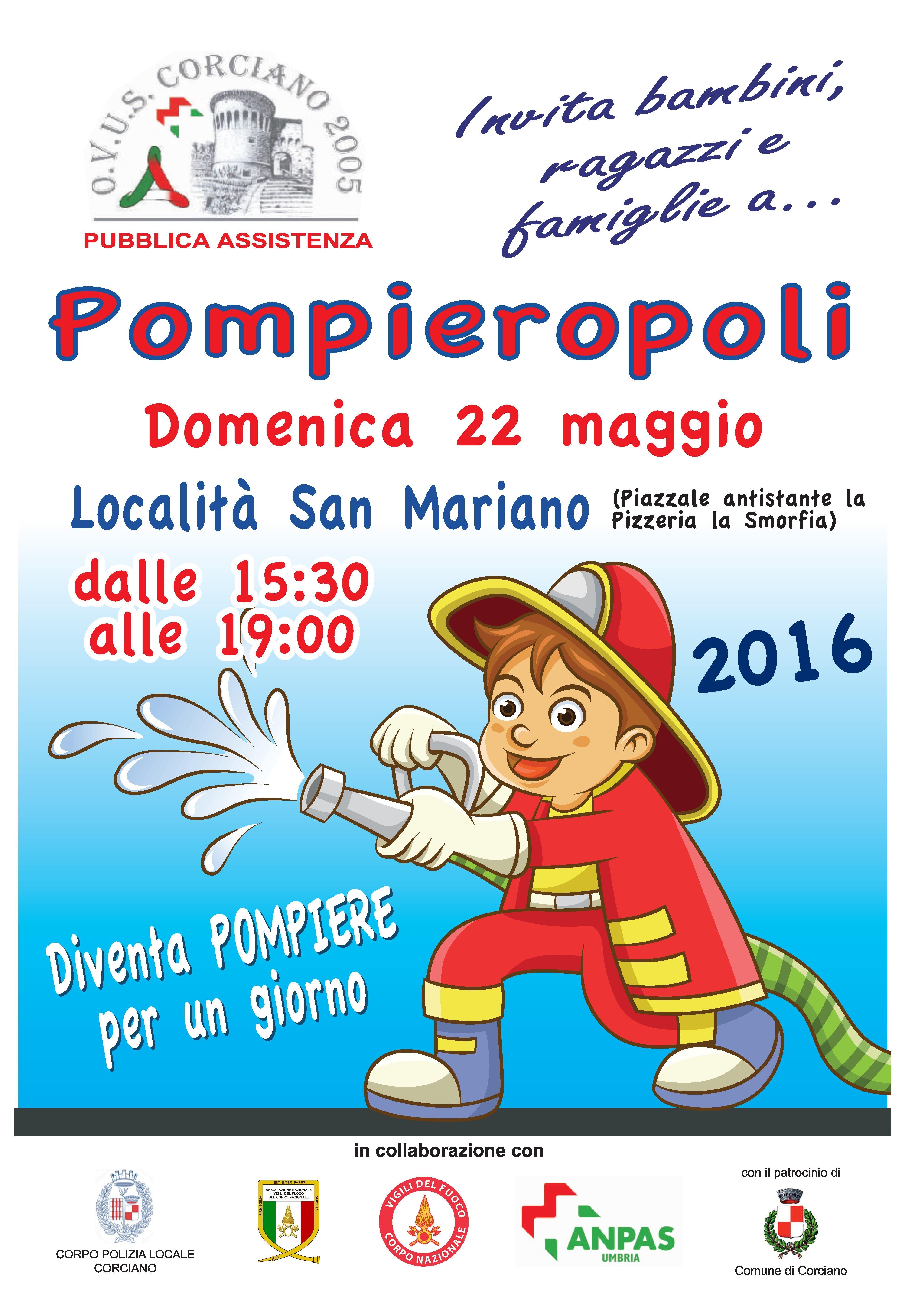 Locandina pompieropoli 2016